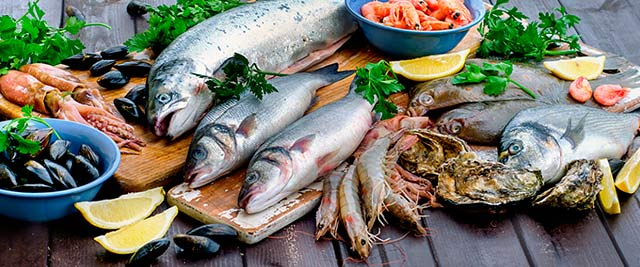 Содержание Омега-3 в рыбе и морепродуктах