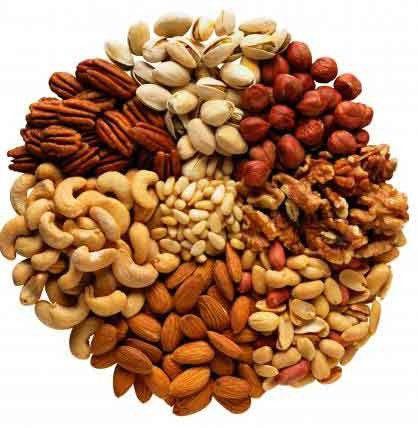 меню в пост: орехи и семечки