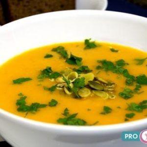 тыквенный суп пюре с зеленью